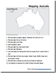 Mapping Australia - unit study