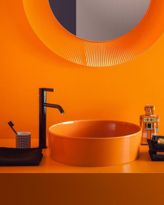 Die besten 25+ Orange open bathrooms Ideen auf Pinterest Orange
