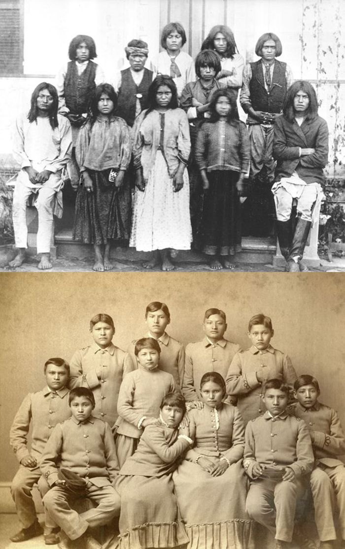 Portraits of American Indians Before and After Entering Carlisle Indian School - History Daily