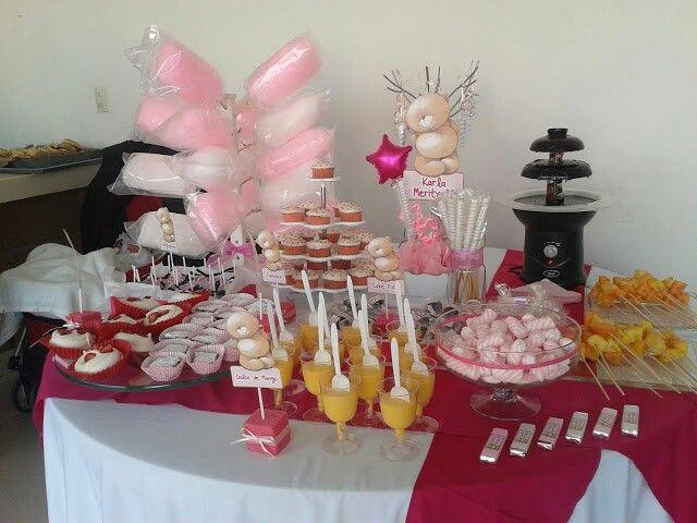 12 best mesa de dulces para ni a images on pinterest for Mesa de dulces para bautizo de nina