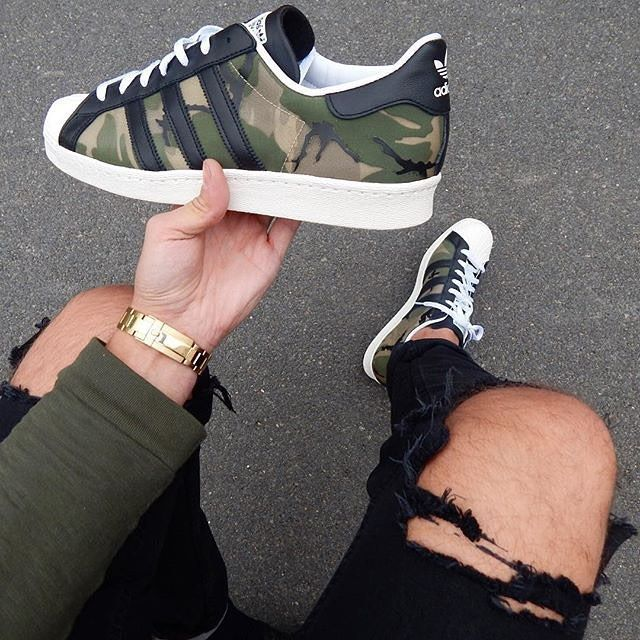 Adidas Superstar Camo  || Follow @filetlondon for more street wear #filetlondon                                                                                                                                                                                 Más