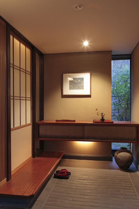 Japanese inspiration...shared appreciation for tea, baths, paper, and minimalist interiors