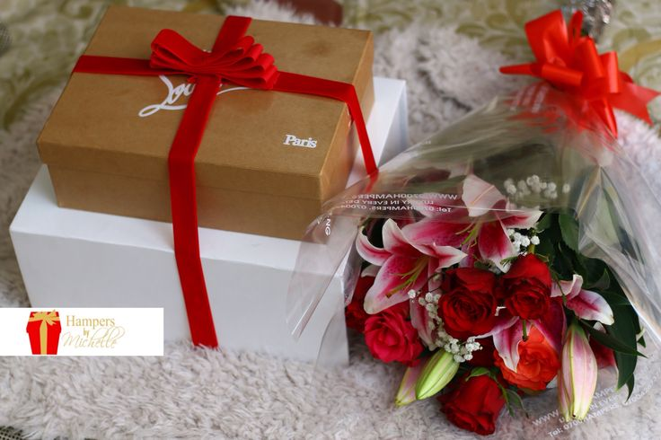 #throwback Luxury Package ~ Christain Louboutin x Pamper Hamper x Luxury Bouquet special delivery for a special person #valentine2016