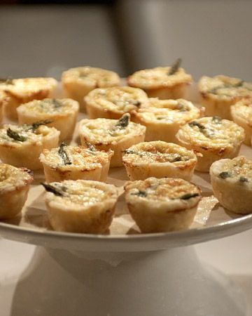 Make ahead appetizers - Mini Quiches - Martha Stewart Recipes