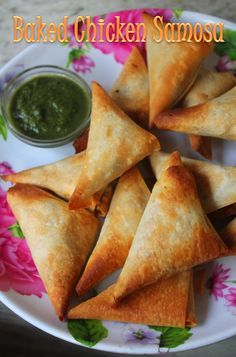 YUMMY TUMMY: Baked Chicken Samosa Recipe - Baked Samosa Recipe