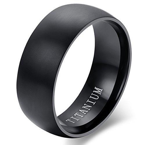 Oferta: 3.99€ Dto: -74%. Comprar Ofertas de Flongo Anillo de compromiso, Anillo negro titanio, Vintage clásico anillos de hombre, Anillo de boda pedida, Buen regalo para barato. ¡Mira las ofertas!