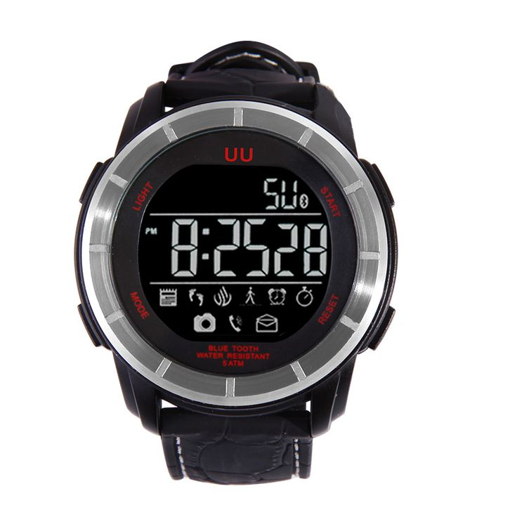 UU Smart 5 ATM Waterproof Stopwatch Bluetooth 4.0 Sport Pedometer Backlight Watch for iPhone Samsung