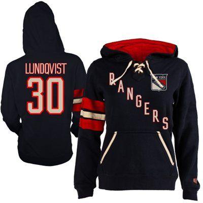 Women's New York Rangers Henrik Lundqvist Old Time Hockey Navy Blue Heidi Hoodie #MyNHLWishListSweeps