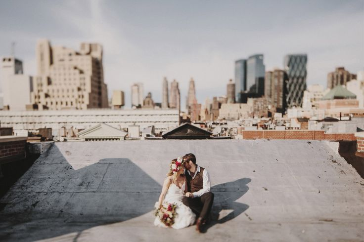 Emily & Javier | New York Elopement on a rooftop