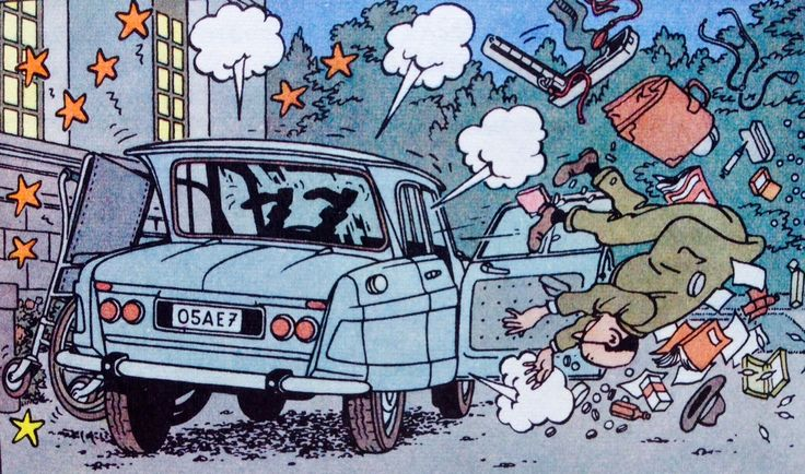 Las Joyas De La Castafiore Citroen Ami6 1961 Tintin Willys Mb Ilustraciones
