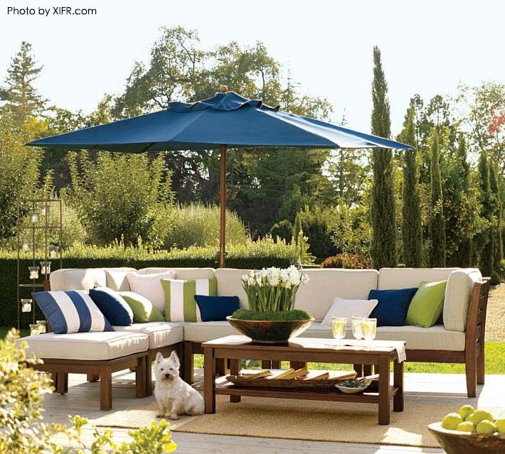 Wonderful Make Sure People Come To Your Patio With These 9 Décor Items. Large Patio  UmbrellasBlue ...