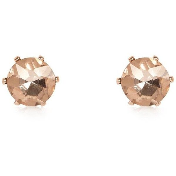 River Island Rose gold tone sparkly gem stud earrings ($12) ❤ liked on Polyvore featuring jewelry, earrings, earring jewelry, river island, studded jewelry, sparkle jewelry and gemstone stud earrings