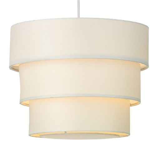 The anya three tiered cream non electric lampshade is part of the wisebuys collection from dar