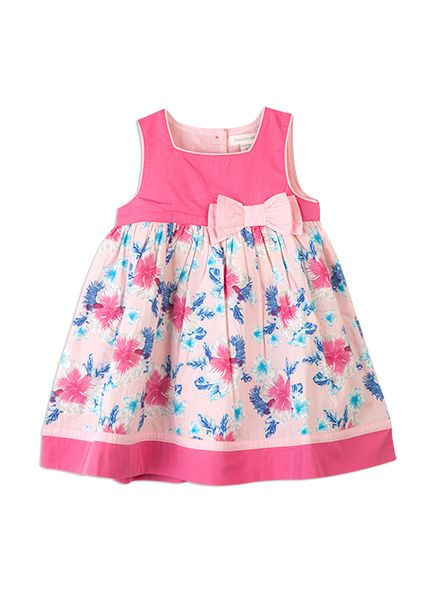 Pumpkin Patch - dresses - palms print dress - S4BG80043 - blushing bride - nb to 18-24m #DearPumpkinPatch wanting this as a gift to my best friends baby girl :)