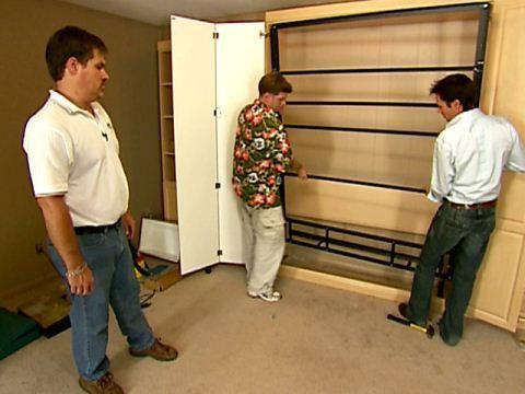 25 beste idee n over murphy bed plannen op pinterest doe het zelf bedframe volle bedden en - Hideable furniture ...
