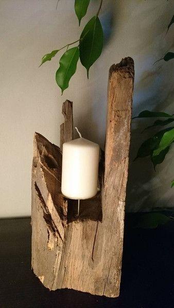 Vintage Kerzenständer   WOOD DESIGN / UNIKAT / Kerzenständer Aus Holz   Ein  Designerstück Von WoodpeckerDesign