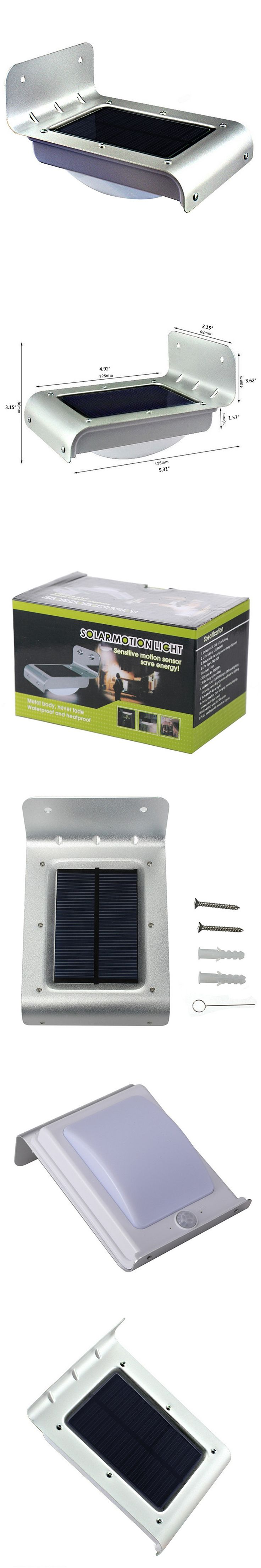 24 LED Motion Sensor Light Waterproof Solar Powered Lamp Wall Mount Lamp Night Light Outdoor Garden Path Lighting VEN45 T10