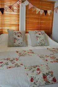 Paz Montealegre   Decoración: Pieceras bordadas , cojines y ropa de cama