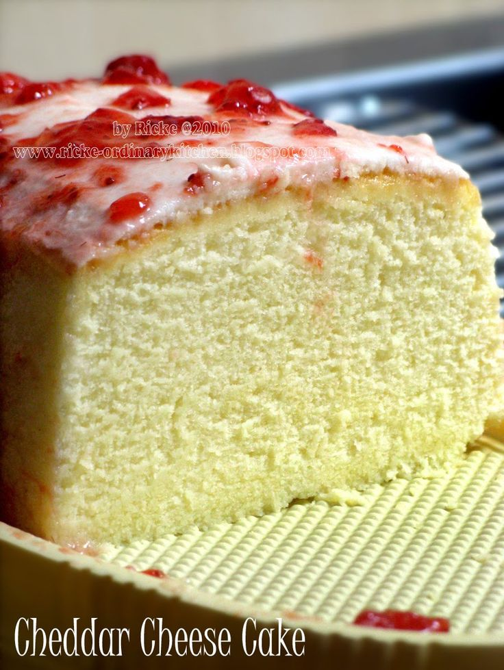 Just My Ordinary Kitchen...: CHEDDAR CHEESE CAKE (CCC)