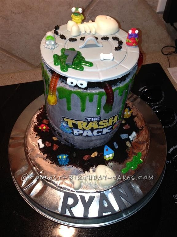 Disgustingly Awesome Trash Pack Cake... This website is the Pinterest of birthday cake ideas