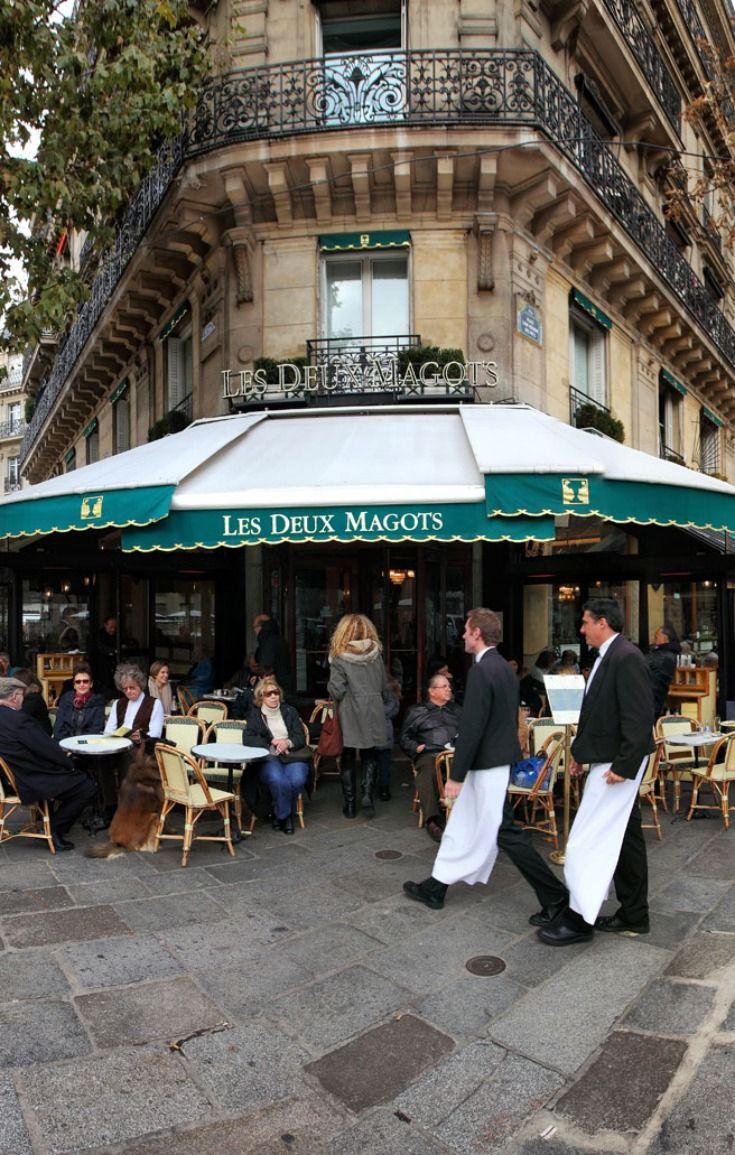 Café les Deux Magots, Saint Germain des Prés, Paris, France  This restaurant holds a special place in our hearts!