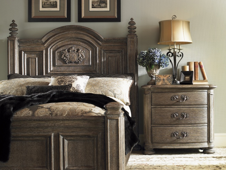 Lexington La Tourelle Bergerac 4 Piece Bedroom Set In Aged Mocha     Lowest  Price Online On All Lexington La Tourelle Bergerac 4 Piece Bedroom Set In  Aged ...