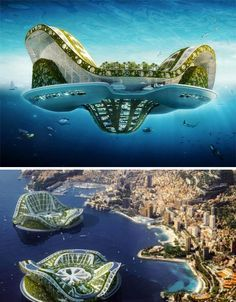 Lilypad Floating City Concept