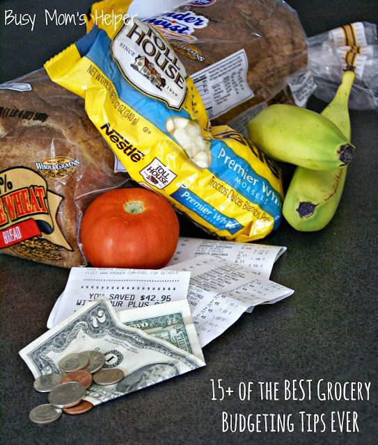 Over 15 of the BEST Grocery Budgeting Tips EVER! Pick and choose which simple tips work best for your family and begin saving $$$! from www.BusyMomsHelper.com #finance #budget #money #saving #groceries