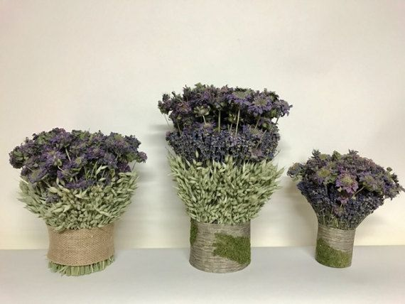New to our Floral Collection! Every table needs a centerpiece and these Lavender, Lemon Mint and Avena Centerpieces are an easy beautiful way to bring a bit of the countryside into your home! Wonderful for spring on your entryway table, dining table or side tables. Also makes lovely lavender wedding decor! Straight from the farm to your door! This is for a set of three! First from left to right is 1) lemon mint and avena centerpiece 2) middle: lavender, avena and mint centerpiece and 3)…