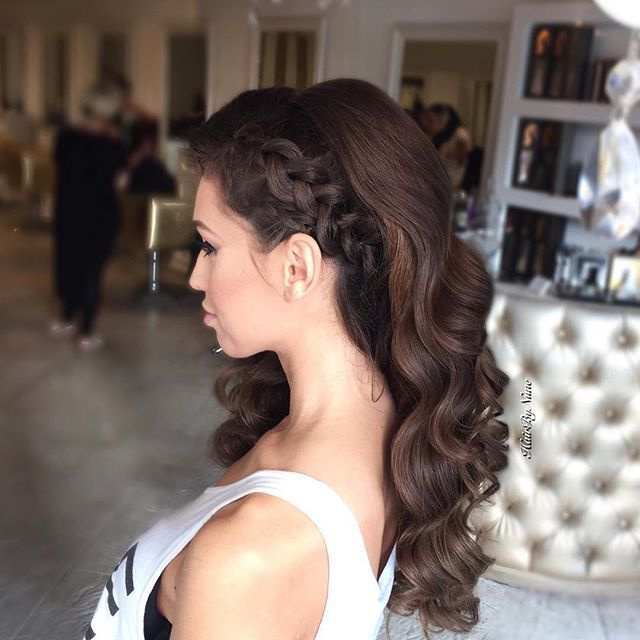 Side Braid Waves Hair Styles Prom Hairstyles For Long Hair Homecoming Hairstyles