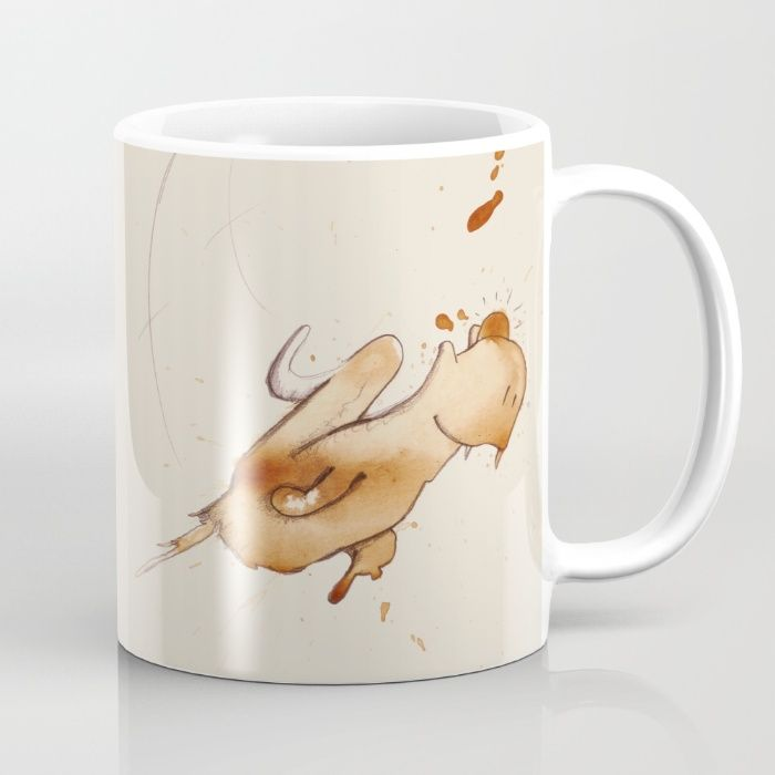 #coffeemonsters 500 Mug funny and cool art coffee mug with monsters made from coffee stains
