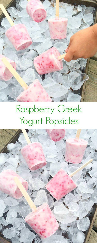 Raspberry Greek Yogurt Popsicles - The Lemon Bowl