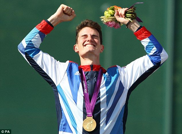 Peter Wilson wins gold in the shooting. Farmers son. Love it!
