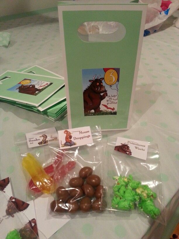 Gruffalo party favors