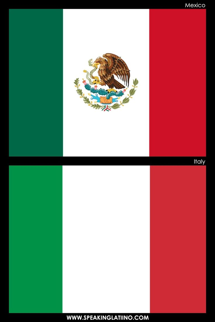 Hispanic Flags With Similar Flags from Around the World: MEXICO AND ITALY.  .@Jorge Martinez Cavalcante (JORGENCA)