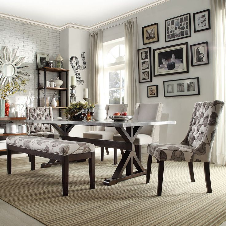SIGNAL HILLS Trumbull Stainless Steel Dining Table | Overstock.com Shopping - The Best Deals on Dining Tables