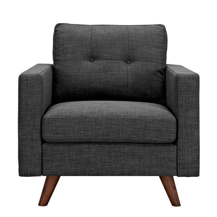 Best Ames Charcoal Gray Armchair Walnut In 2019 Armchair 400 x 300