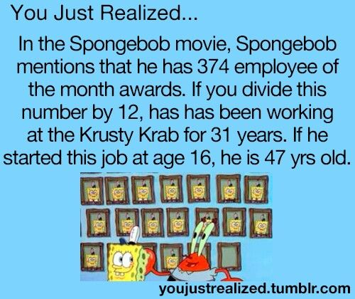 You just realized