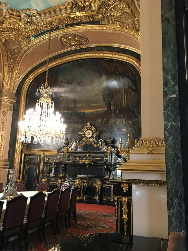 Dining room in Napoleon lll apartment in the Louvre.