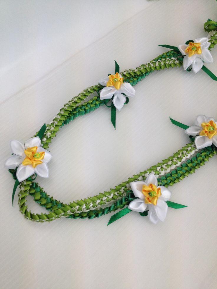 Narcissus Lei ( Ribbon lei) – #lei #Narcissus #Rib…