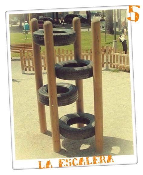 juegos infantiles reciclaje reciclar neumticos chicos parque infantil trepadoras materiales reciclados primitivo llantas