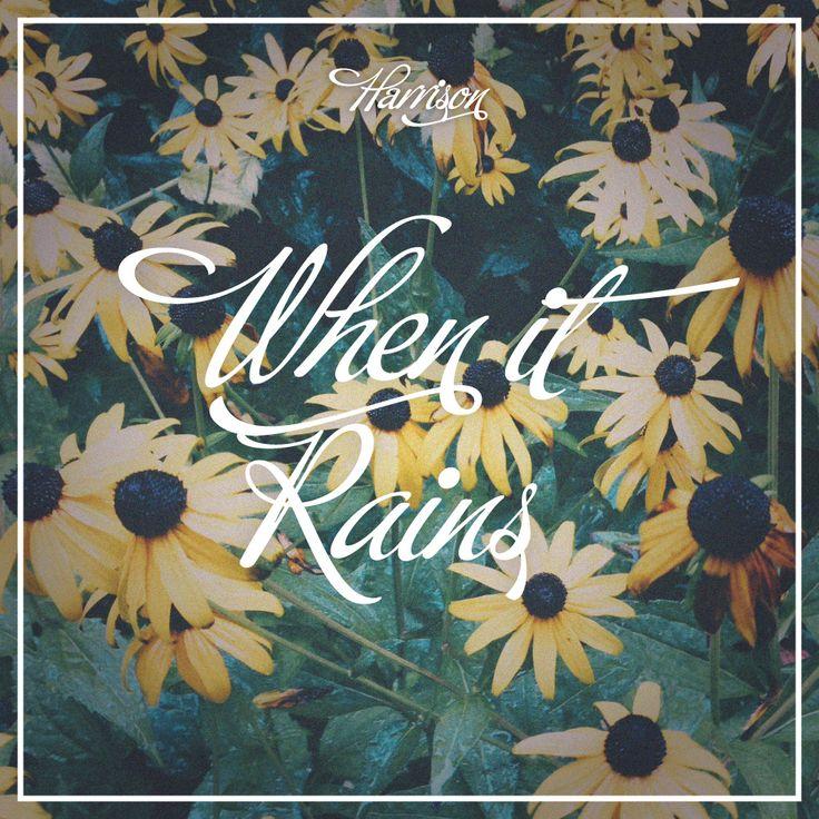 'When It Rains' album art for HΛRRISON