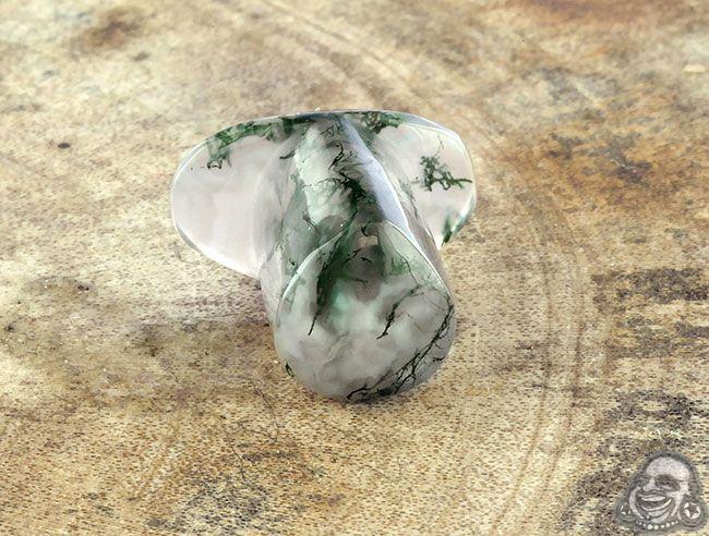 Moss agate teardrop philtrum labret