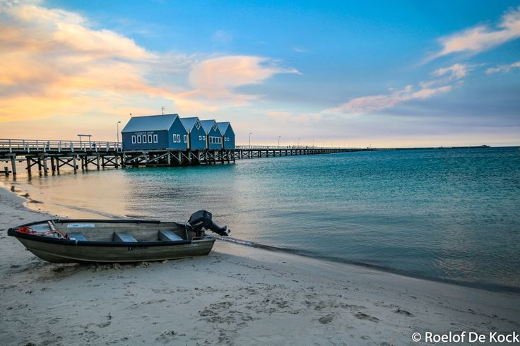 "The Busselton Jetty in ""Southwest"" Western Australia. The Jetty stretch for 2 km across Geographe Bay with an underwater observatory 8m below the surface. #vaas8790 #westernaustralia #australia #photography #amazing_wa #exploreaustralia #busselton #wa #sunset #southwest #busseltonwesternaustralia #geographebay #busseltonjetty"
