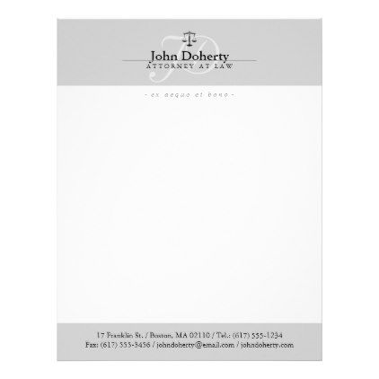 Classy Scales of Justice | Professional Letterhead - attorney lawyer business personalize unique counsel