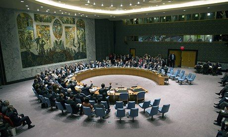The United Nations security council voting on Syria handing over its chemical weapons, last month. Saudi Arabia has refuse to take its seat ...