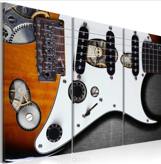 un quadro per la tua parete della #camera guitar chitarra elettrica https://www.quadriperarredare.it/shop/quadro-guitar-hero/