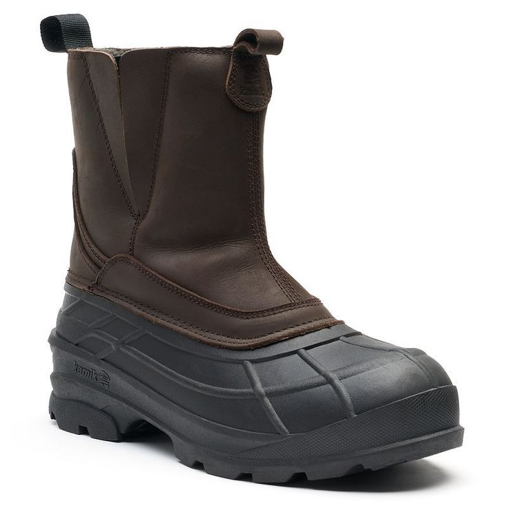 Kamik Dawson Men's Waterproof Winter Boots, Size: 13, Brown
