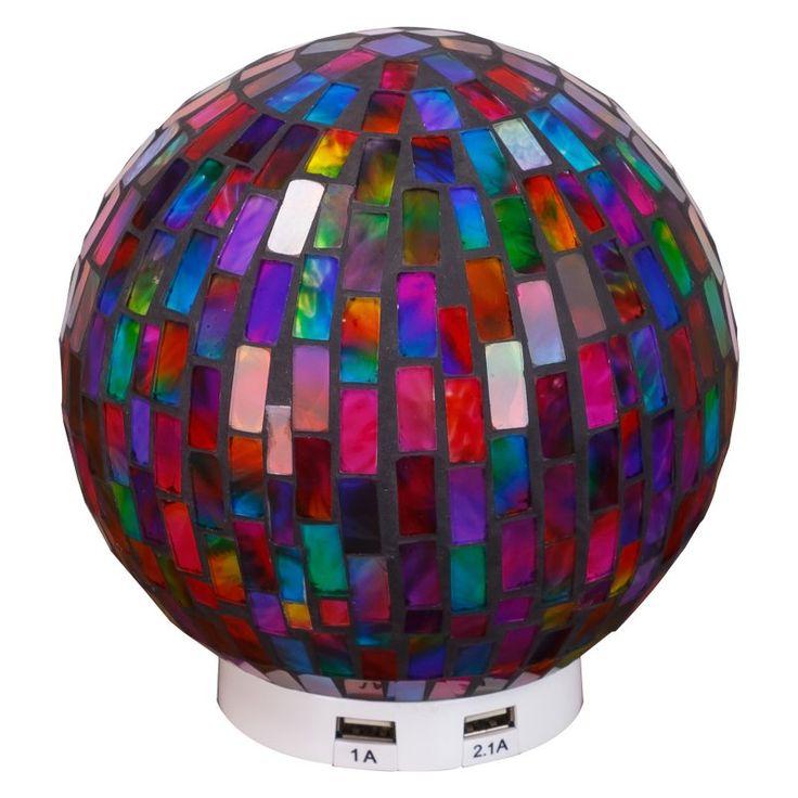 Casual Home L.Idea Mosaic Globe LED Table Lamp with USB Port - 921-35
