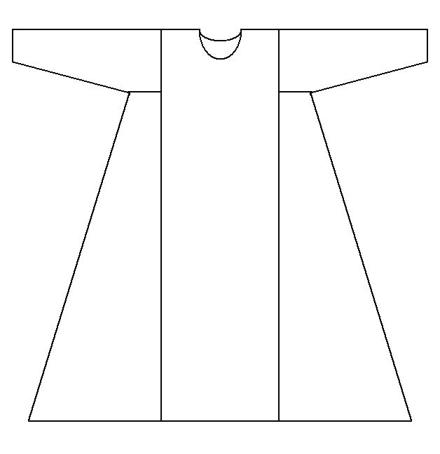 good simple tunic pattern, have used shortened for men's tunic as well
